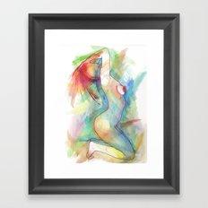 Levoton tuuli uteliaan korvaan Framed Art Print