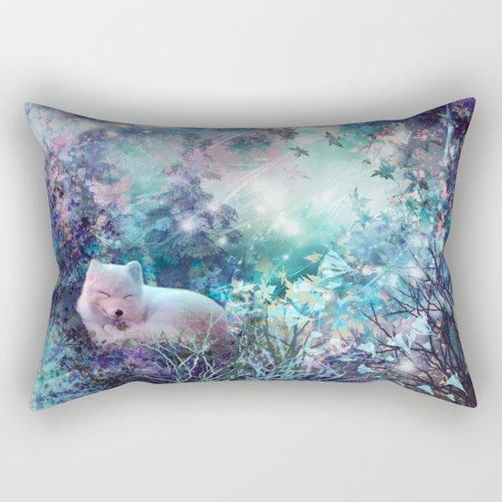 sleeping fox, enchanted dreams Rectangular Pillow