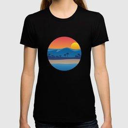 Mountains, Beach and Ocean Illustation T-shirt