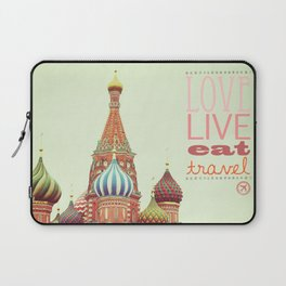 Love, Live, Eat, Travel Laptop Sleeve