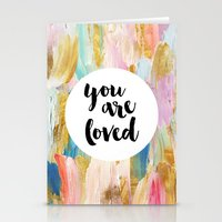 Stationery Cards featuring You Are Loved by Elisa Gordon