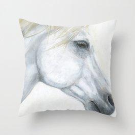 Sacred Stallion Throw Pillow