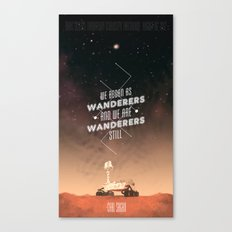 Wanderers - MSL/Curiosity Commemoration Print Canvas Print
