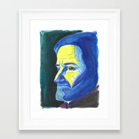 robin williams Framed Art Prints featuring Robin Williams by Heather Davies-Devoe