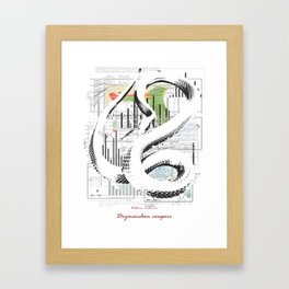 Natura Technica - Eastern Indigo Snake Framed Art Print