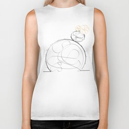 cactus simple line drawing Biker Tank