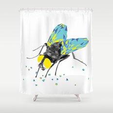 Geosafari   Fly (White) Shower Curtain