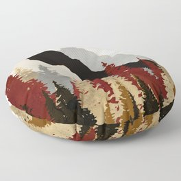 Autumn Trees Floor Pillow