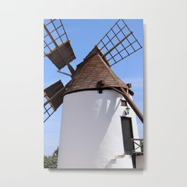 Windmill Antigua Fuerteventura Spain Metal Print