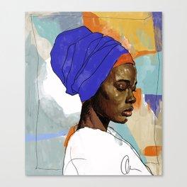 Black Woman Wrap Canvas Print