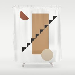 BALCONE ALLA LUNU - Moon at the balcony - Modern abstract art illustration Shower Curtain