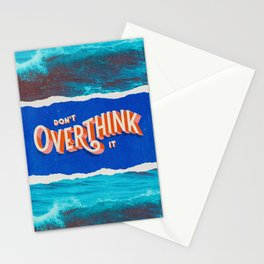 Don't Overthink It by Kooky Collages Stationery Cards