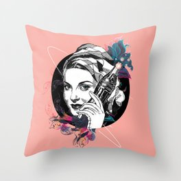Vintage women from the 40s Throw Pillow