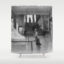 Frank Waller - Entrance Hall of the Metropolitan Museum of Art when in Fourteenth Street Shower Curtain