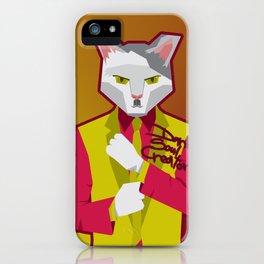 Kittler in Suit iPhone Case
