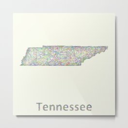 Tennessee map Metal Print