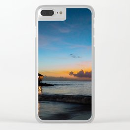 Caribbean Sunset Clear iPhone Case