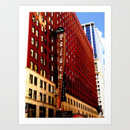 Downtown Chicago - Cadillac Palace Theatre facade  Art Print