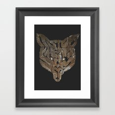 Foxy Typography Framed Art Print