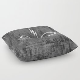 Lightning Bolt Glasses Floor Pillow