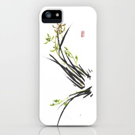 Green Wild Orchid Two iPhone Case