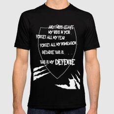 My Defense Black SMALL Mens Fitted Tee