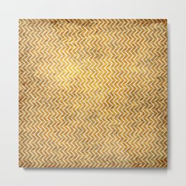 Textured ice coffee chevrons Metal Print