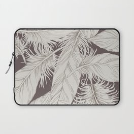 Feathers on brown background Laptop Sleeve