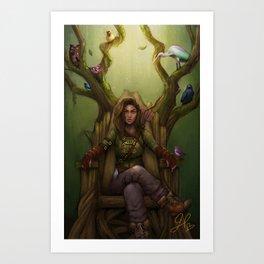 Huntress & the Nightingale Art Print