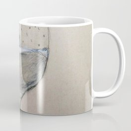 A glass of water with a cork in it Coffee Mug