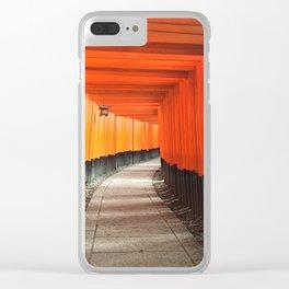 Fushimi Inari Shrine Clear iPhone Case