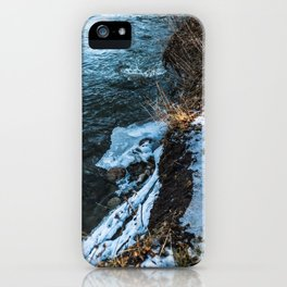 Down the cliff iPhone Case