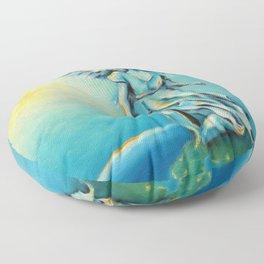 Archangel Michael - Hand painted Angel Art Floor Pillow