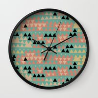 triangles Wall Clocks featuring triangles by spinL