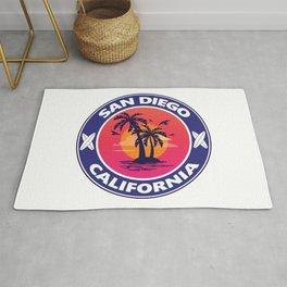 Surf San Diego California Rug