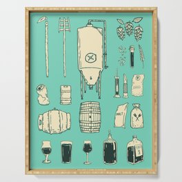 Brewer's Things Poster Serving Tray