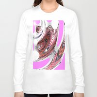 transparent Long Sleeve T-shirts featuring Transparent Thinking by Irfan Gillani