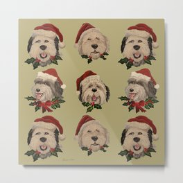 SantaSHeepies in Tan Metal Print