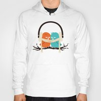 vector Hoodies featuring Baby It's Cold Outside by Picomodi