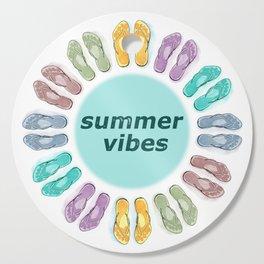 Summer vibes in flip flops Cutting Board