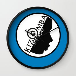 Kizomba Harmony blue Wall Clock