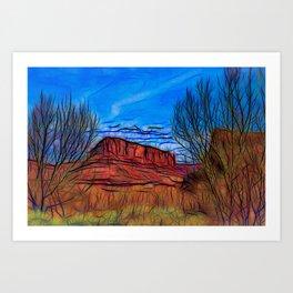 Banks of the Colorado Art Print