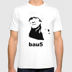 bau5 Mens Fitted Tee White SMALL