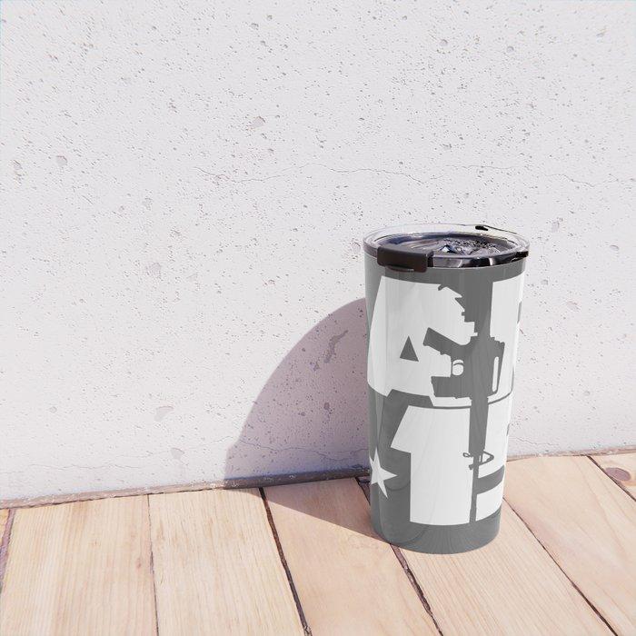 AR-15 (Gunmetal/White) Travel Mug