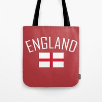 england Tote Bags featuring England by Earl of Grey