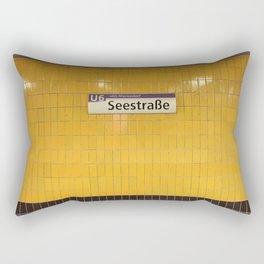 Berlin U-Bahn Memories - Seestraße Rectangular Pillow