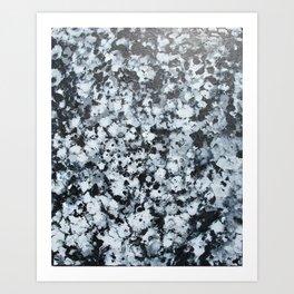 untitled (4456 bklack and white) Art Print