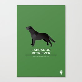 Black Labrador Retriever Canvas Print