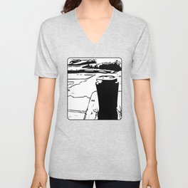 Coffee by the Lake Unisex V-Neck