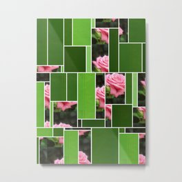Pink Roses in Anzures 3 Art Rectangles 12 Metal Print